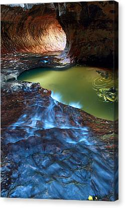 Subway In Zion National Park Utah Canvas Print by Pierre Leclerc Photography