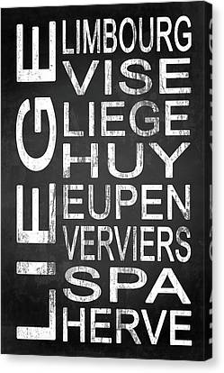 Typography Canvas Print - Subway Liege Belgium 1  by Melissa Smith
