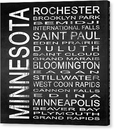 Subway Minnesota State Square Canvas Print