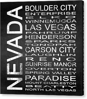 Subway Nevada State Square Canvas Print by Melissa Smith