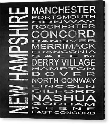 Subway New Hampshire State Square Canvas Print by Melissa Smith