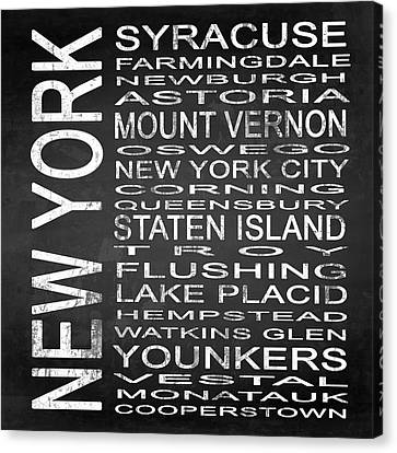 Subway New York State 2 Square Canvas Print by Melissa Smith