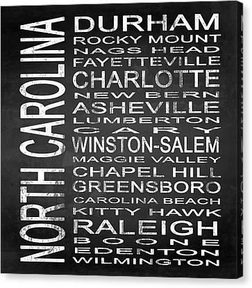 Subway North Carolina State Square Canvas Print by Melissa Smith