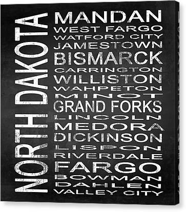 Subway North Dakota State Square Canvas Print by Melissa Smith