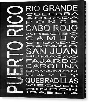 Subway Puerto Rico Square Canvas Print by Melissa Smith