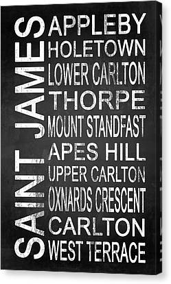 Typography Canvas Print - Subway Saint James Barbados 1 by Melissa Smith