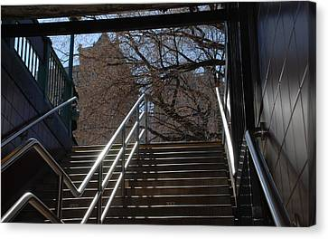 Subway Stairs Canvas Print by Rob Hans