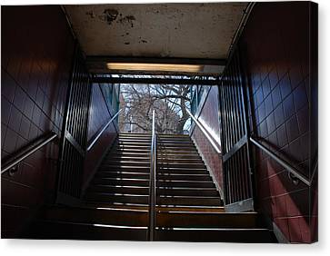 Subway Stairs To Freedom Canvas Print by Rob Hans