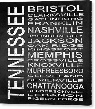 Subway Tennessee State Square Canvas Print by Melissa Smith