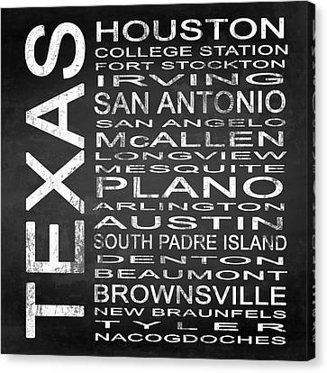 Subway Texas State Square Canvas Print by Melissa Smith