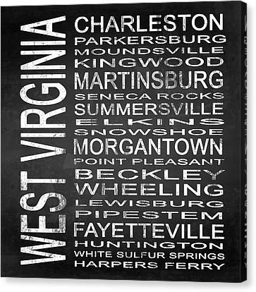 Subway West Virginia State Square Canvas Print by Melissa Smith