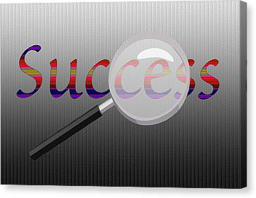 Digital Installation Art Canvas Print - Success Magnified by Tina M Wenger