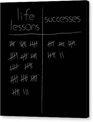 Lessons Canvas Print - Successes Vs Life Lessons by Pelo Blanco Photo