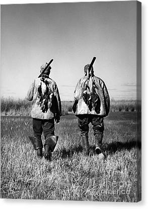 Senior Walk Canvas Print - Successful Duck Hunters, 1930s-40s by H. Armstrong Roberts/ClassicStock