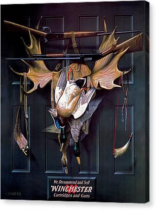 Successful Hunter  Door Art Canvas Print by Alexander Pope