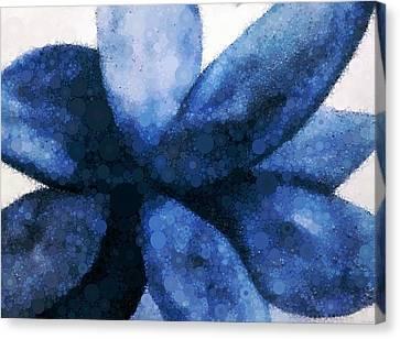 Succulent - Mosaic Abstract Canvas Print by Katrina Britt