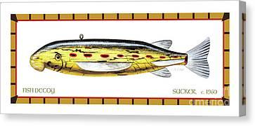 Canvas Print - Sucker Ice Fishing Decoy by Jon Q Wright