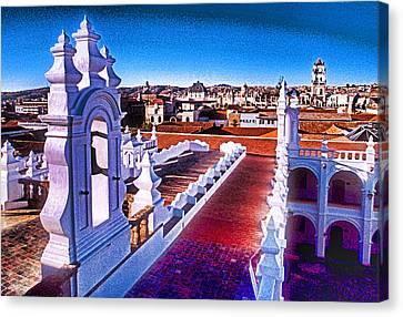 Sucre Convent Canvas Print by Dennis Cox WorldViews
