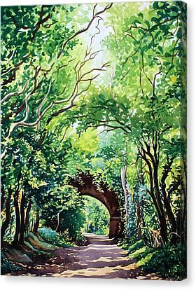 Sudbury Bridge And Trees Canvas Print by Christopher Ryland
