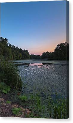 Canvas Print featuring the photograph Sudbury Grist Mill Pond by Juergen Roth