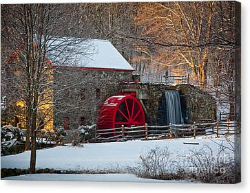 Wayside Inn Grist Mill Canvas Print - Sudbury Gristmill by Susan Cole Kelly