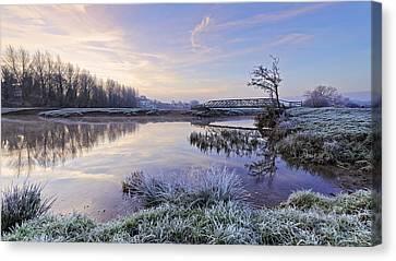 Sudbury Water Meadows Canvas Print by Ian Merton