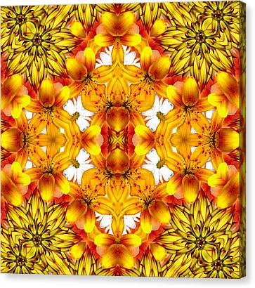 Sudden Heat Mandala Canvas Print by Georgiana Romanovna