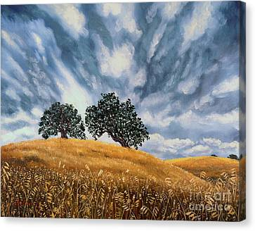 Storm Canvas Print - Sudden Storm In May by Laura Iverson
