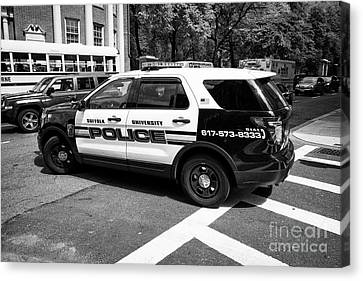 suffolk university campus police patrol vehicle Boston USA Canvas Print