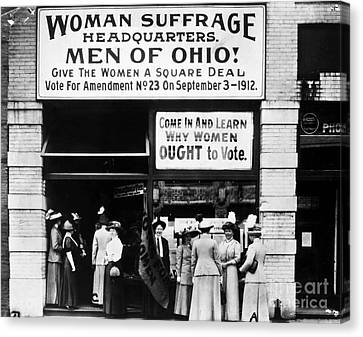 Suffrage Headquarters Canvas Print by Granger