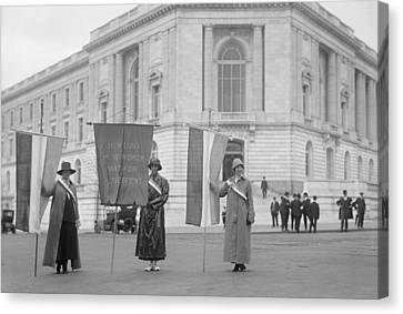 Suffragettes Picketing The Senate Canvas Print by Everett