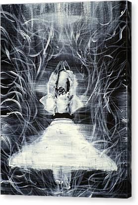 Sufi Whirling  - February 19,2013 Canvas Print by Fabrizio Cassetta