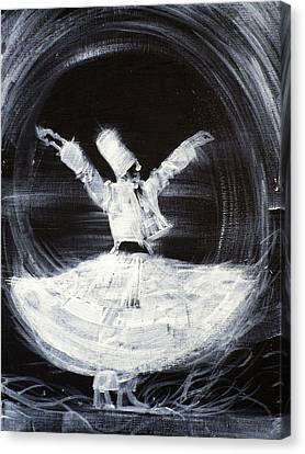 Sufi Whirling  - February 21,2013 Canvas Print by Fabrizio Cassetta