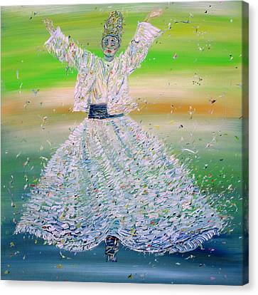 Sufi Whirling  - February 9,2015 Canvas Print by Fabrizio Cassetta