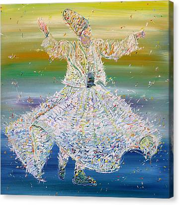 Sufi Whirling  - January 27,2015 Canvas Print by Fabrizio Cassetta