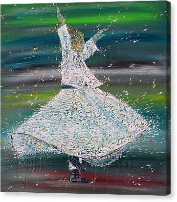 Sufi Whirling  - January 29,2015 Canvas Print by Fabrizio Cassetta