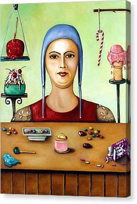 Sugar Addict Canvas Print by Leah Saulnier The Painting Maniac
