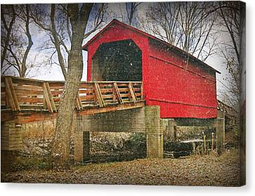 Sugar Creek Covered Bridge 3 Canvas Print