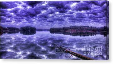 Canvas Print featuring the photograph Sugar Creek Reflections Lake Oconee Georgia Art by Reid Callaway