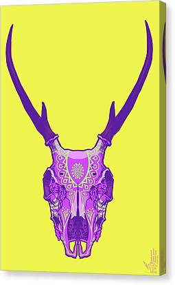 Sugar Deer Canvas Print by Nelson Dedos Garcia