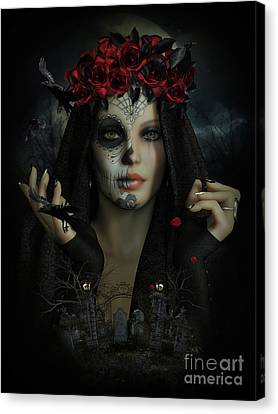 Sugar Doll Magic Canvas Print by Shanina Conway
