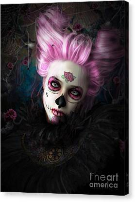 Sugar Doll Pink Canvas Print by Shanina Conway