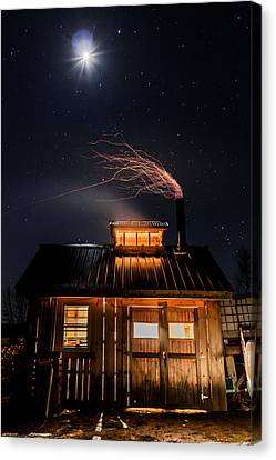 Sugar House At Night Canvas Print