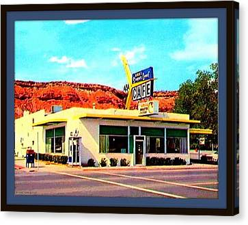Sugar Loaf Cafe, St. George Ut, 1955 Canvas Print by Dwight GOSS
