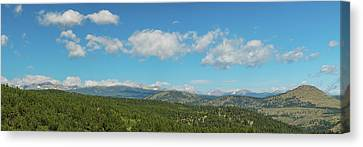 Canvas Print featuring the photograph Sugar Magnolia Summer Rocky Mountain Peaks Panorama View by James BO Insogna