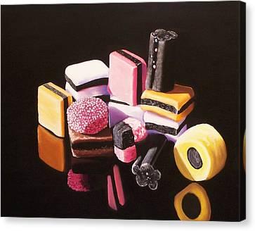 Licorice Canvas Print - Sugar Me by Melanie Cossey