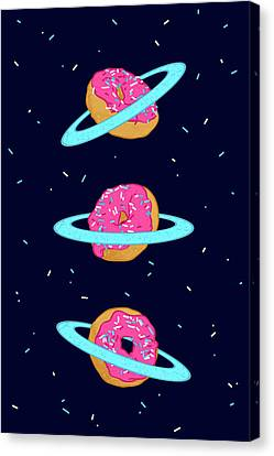 Sugar Rings Of Saturn Canvas Print by Evgenia Chuvardina