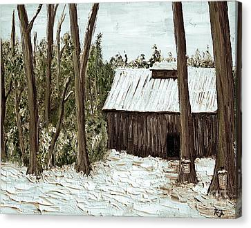 Sugar Shack Canvas Print by Reb Frost