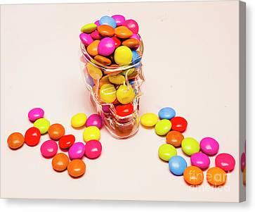 Sugar Skull Candy Jar Canvas Print