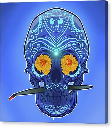 Sugar Skull Canvas Print by Nelson Dedos Garcia